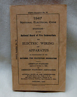 Very Vintage Year 1947 NATIONAL ELECTRICAL CODE BOOK Great Condition