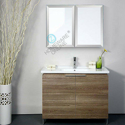750 x 720x150mm Bevel Edge Shaving Cabinet Medicine Bathroom Mirror Vanity White
