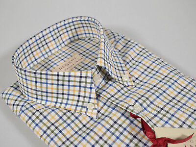 Camicia a quadri Regent by Pancaldi Regular Fit collo Button Down in flanella