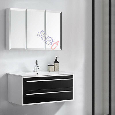 1200 X 720 X 150MM Bevel Edge Mirror Cabinet Shaving Medicine Bathroom Vanity