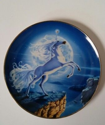 Mystical Moon Of The Diamond Unicorn By Steve Read Collector Plate Franklin Mint