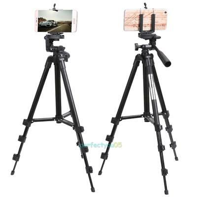 Professional Camera Tripod Stand Holder + Bag for Smart Phone iPhone Samsung Cam