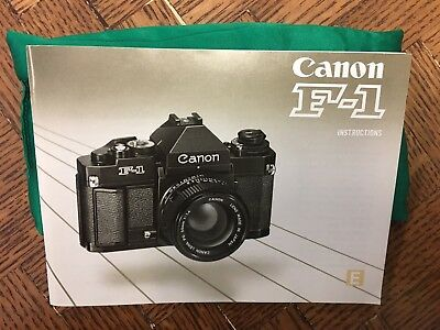 Canon F1N manual - VERY NICE - New Old Stock?
