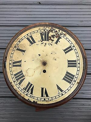 Antique Fusee Wall Clock Round Face Mahogany Cased - Project
