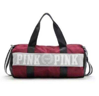 Victoria's Secret Love Pink Duffel / Gym Bag -  Red-Free Shipping