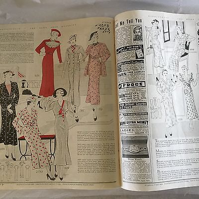August 1935 HOME ARTS NEEDLECRAFT Magazine Fiction Fashion How To LUCKY STRIKE