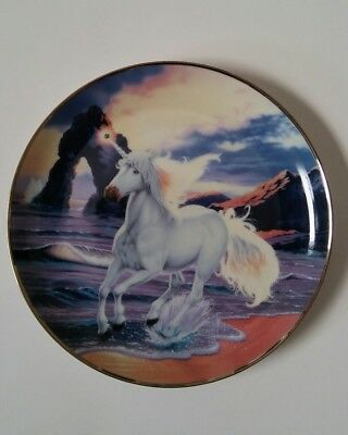 The Sunset Of The Diamond Unicorn By Steve Read Collector Plate Franklin Mint