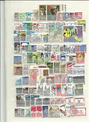 Denmark 1980s used stamps selection lot 1