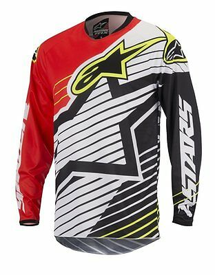 Maglia Alpinestars Racer Braap Red/white Motocross Enduro Quad 2017