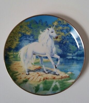 Reflections Of The Diamond Unicorn By Steve Read Collector Plate Franklin Mint
