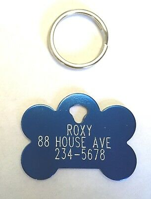 Pet Tags Dog Cat ID Tag You choose shape Custom Engraved one side free shipping