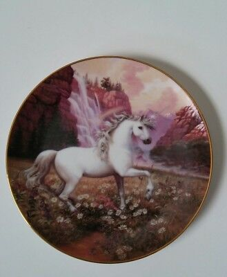 Rainbow Valley Of The Unicorn Plate By Ruth Sanderson, Princeton Gallery