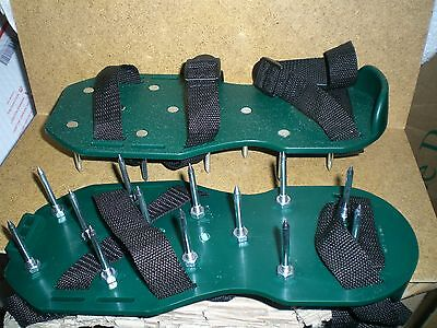 New Garden Lawn Aerator Spike Shoes - Aerating Sandals Never Used