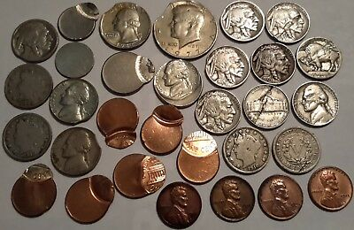 31 Pcs - Error Coins, Along With Copper Plated 1943 Cents - Nice Lot