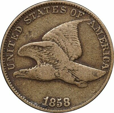 1858 Flying Eagle Cent, Very Fine VF