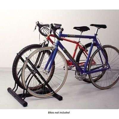 NEW IN BOX! Racor Floor Bike Stand, Black - Holds 2 bikes! **FAST SHIPPING!**