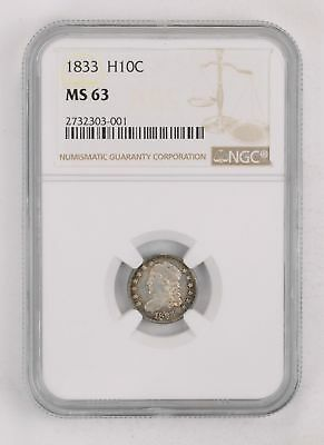 MS63 1833 Capped Bust Half Dime - NGC Graded *2181