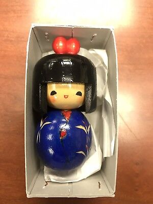 Japanese Wooden Kokeshi Doll in original box (3.5 inches tall)