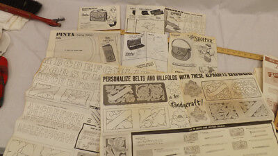 Vtg Tandy Craft Kit Instruction/Template 12 pc Lot Purses,Wallet,Slippers Etc