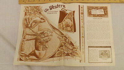 Vtg Craftaid Doodle Page GO WESTERN Horse Cowboy Series 12/8 by hristine Stanley