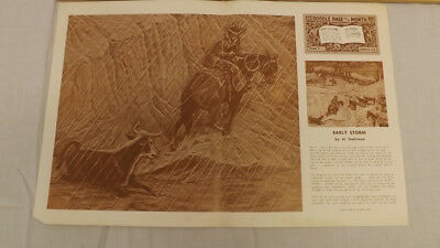 Vtg Craftaid Doodle Page EARLY STORM Cowboy Horse Series 7-B/4 by Al Stohlman