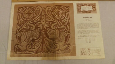 Vtg Craftaid Doodle Page ORNAMENTAL ART GRIFFONS Series 6-B/11 by Jerry Jennings