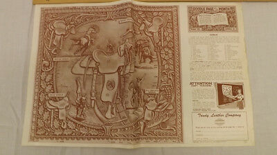 Vtg Craftaid Doodle Page Saddles Cowboy's Western Series 5/12 by Al Stohlman