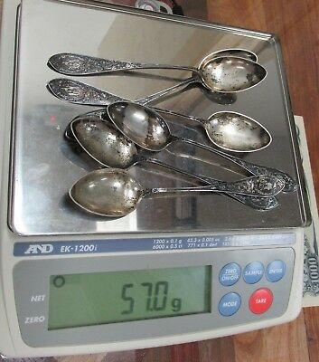 Antique Sterling Silver Spoons 57 Grams 830S Norway