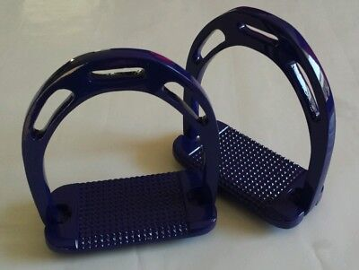"Stirrups, Blue, 4.75"", lightweight Aluminium Stirrups. High grip tread"