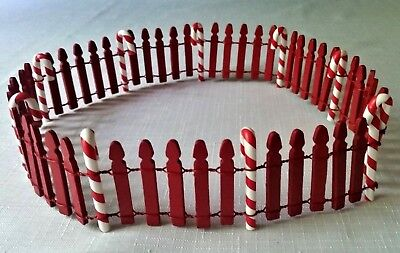 """Dept. 56 North Pole 23"""" Peppermint Candy Cane Fence MINT (Similar to 52664)"""
