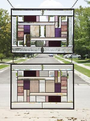 """Time for WINE !   -Stained Glass Panel EACH 20 1/2"""" x 14  1/2"""""""