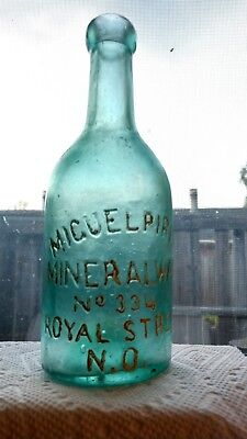 "7 1/8"" Mineral Water No. 334 N.O. bottle"