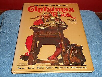 The Saturday Evening Post Christmas Book Norman Rockwell Art 1978 Hardcover