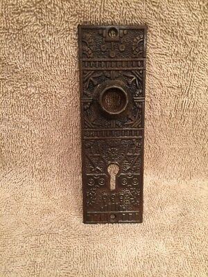 Antique Cast Iron Winsor Victorian  Door Knob Back Plate Escutcheon
