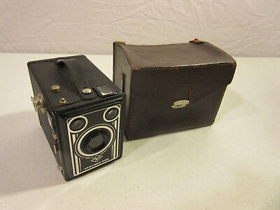 ANTIQUE AGFA SYNCHRO BOX -- MADE IN GERMANY IN THE 50s -- WITH LEATHER BAG --