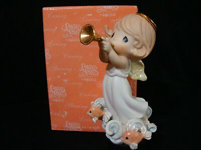 Precious Moments-Very Rare Chapel Exclusive-Angel Blowing Trumpet
