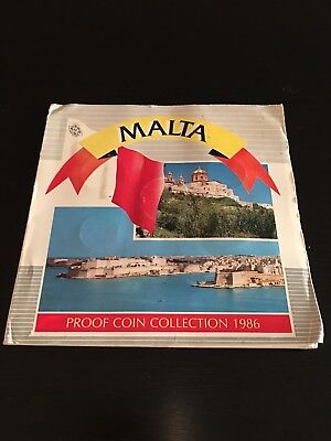 MALTA 1986 Proof Coin Collection Limited 10,000 Royal Mint