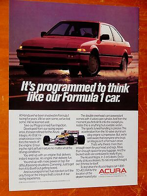 Cool 1987 Acura Integra Coupe Performance Car Ad - Vintage 80S Old School