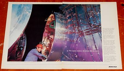 Cool 1993 Boeing Space Station Construction Ad - Retro 90S American Technology