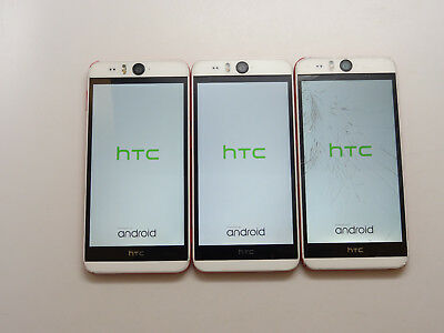 Lot of 3 HTC Desire Eye 0PFH100 AT&T Smartphones Power On AS-IS GSM