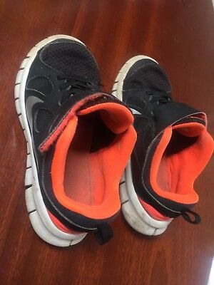 NIKE FREE 5.0 Running Trainers Sneakers Shoes Size US 12C Black/Fluoro RINGWOOD