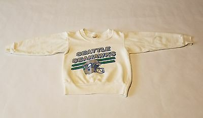 VINTAGE 80s Logo 7 Inc Toddler Seattle Seahawks NFL Sweatshirt Made USA