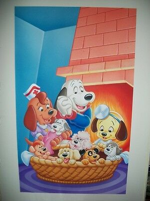 Lovely RARE Pound Puppies Original Art Painting Where Do Puppies Come From Hanna