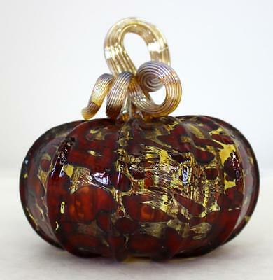 Hand Blown Glass Art Pumpkin Gourd Sculpture  7946 Oneil