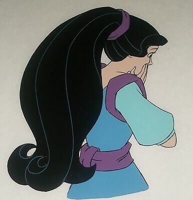 RARE! GORGEOUS SNOW WHITE HAPPILY EVER AFTER Filmation Production Cel + Drawing