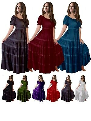 Mexican Peasant Maxi Dress - Women Fashion Plus Sizes - LotusTraders G318