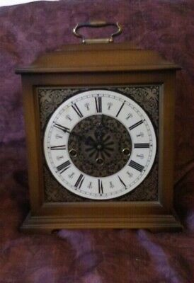 W. Haid 74 ~ Mantel Clock ~With Key ~ Been Wound Too Tight ~ West Germany