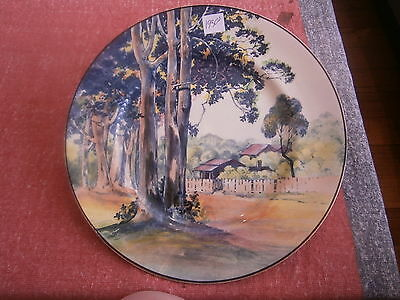 royal doulton plate 1930s gum tree with house scene