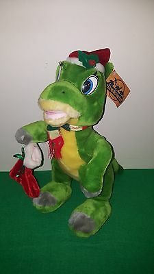 "RARE 15"" Vintage THE LAND BEFORE TIME ~ Ducky~ PLUSH Dinosaur CHRISTMAS Stocking"