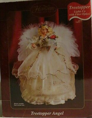 Fiber Optic Angel Tree Topper Carlton Cards Heirloom Collection